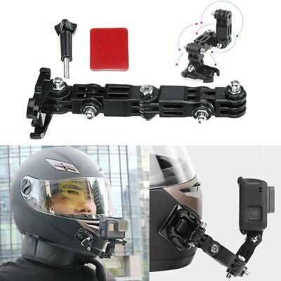Adhesive Full Face Helmet Front Chin Mount for Action Camera Gopro Hero 6/5/4/3