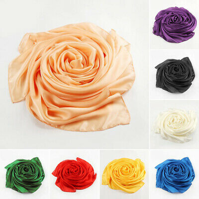 Fashion Womens Girl Long Scarf Soft Silk Wrap Shawl Pashmina Scarves Candy Color