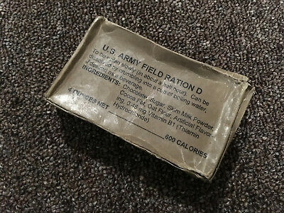 WWII WW2 US Army D Ration Chocolate Reproduction with Contents