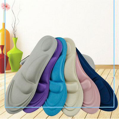 1Pair 4D Sponge Pain Relief Soft Insoles Arch Support Cutting Shoe Pad Feet Care