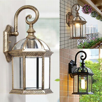 Outdoor Exterior Lantern Sconce Porch Lights Antique Wall Lighting Lamp Fixtures
