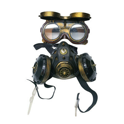 Steampunk Goggles Gas Mask Halloween Cosplay Costume Party Punk Goth Gas Mask