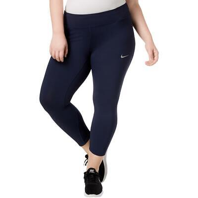 68513dc1ee277c Nike Womens Navy Running Yoga Fitness Athletic Tights Plus 1X BHFO 3527