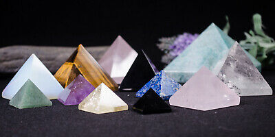 Wholesale Crystal Quartz Gemstone Pyramids Meditation Chakra Energy Healing-1pc