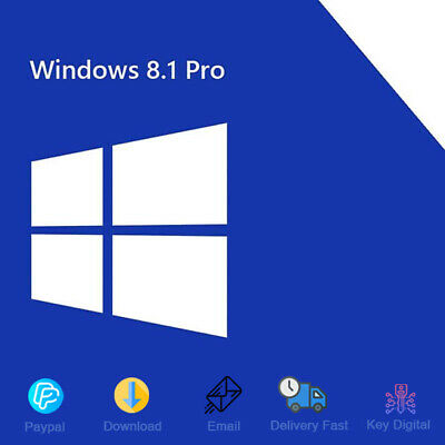 Windows 8.1 Professional Product Key 32/64-bit Genuine License For 1 PC