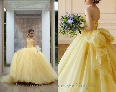 1af60180cb9e5 Yellow Quinceanera Prom Dresses with Bows Appliques Sweet 16 Formal Party  Gowns