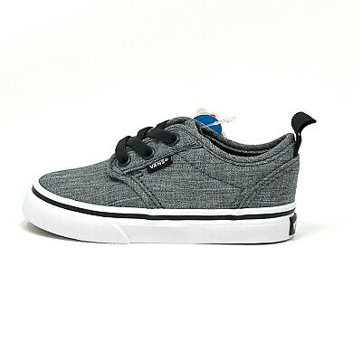 f9554cd67b Vans Atwood Slip On Rock Textile Black White Gray Toddler 5 Skate Shoes New  Grey