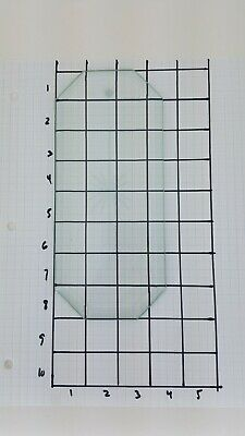 """8"""" x 3.5"""" beveled 8 sided Clear GLASS chandelier PANEL replacement Starburst EUC"""