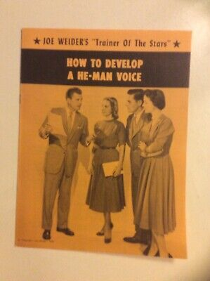 Joe Weider'S Trainer Of The Stars How To Develop A He-Man Voice 1959 Pprbk