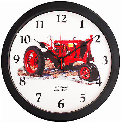 New Vintage 1937 McCormick Farmall Model F-20 Tractor Wall Clock  MASSIVE 14""