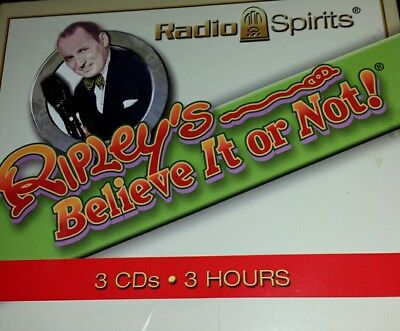 RIPLEY'S BELIEVE IT OR NOT - Old Time Radio (OTR) - 7 Rare Episodes on 3 CDs