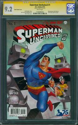 Superman Unchained 1 CGC SS 9.2 Jim Lee Signed 1930's Bruce Timm Variant 8/13