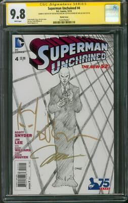 Superman Unchained 4 CGC 2X SS 9.8 Lee Nguyen Retailer Sketch 1 Variant up CGC