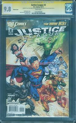 Justice League 2 CGC 4X SS 9.8 Jim Lee Williams Sinclair Reis Variant Top 1