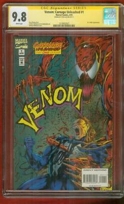 Venom Carnage Unleashed 1 CGC SS 9.8 Stan Lee Sign Cover Spider Man Hardy Movie