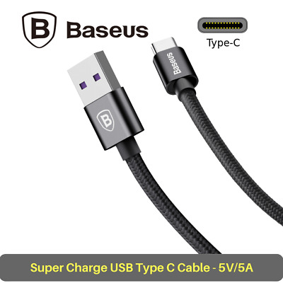 Baseus Speed QC Cable Type-C USB C to USB A 5A Quick Charge 3.0 Data Cable 1M