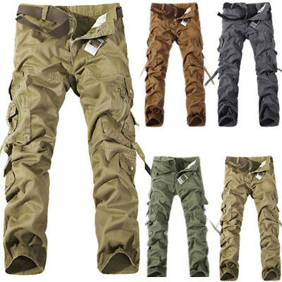 Details about Herren Pure Vintage Cargo Hose Army Style Cargohose Outdoor Lang Arbeitshosen DE