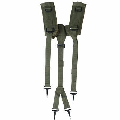 Us Army Military Alice System Lc-2 Green Y Shoulder Harness Belt Suspenders