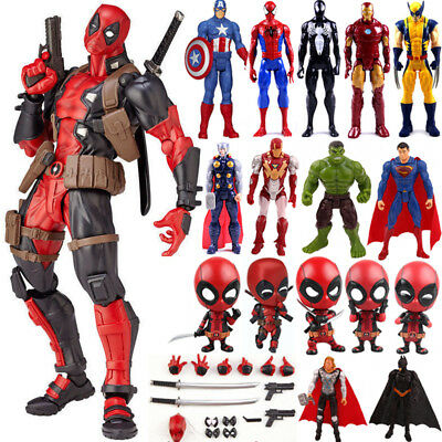 Decor Marvel Superheld Figur Deadpool Spiderman PVC Action-Figuren Spielzeug NEU