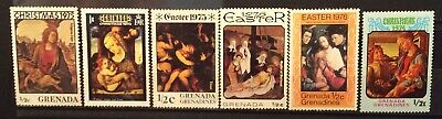 World Stamps Grenada 6 Stamps Mix Christmas &Easter Mint Stamps (B2-213)
