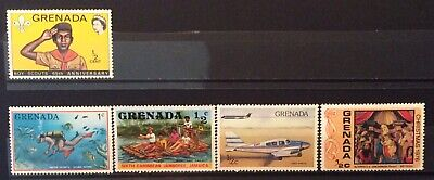 World Stamp Grenada 5 Stamps Mixture Excellent Mint Stamps (B2-214)