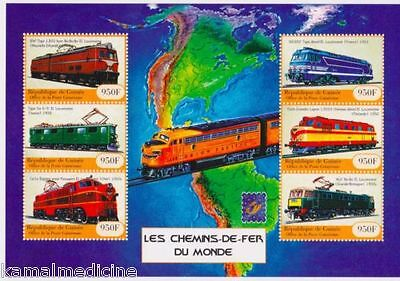 Guinea 2001 MNH SS, Locomotives, Trains, Railways  (T1)