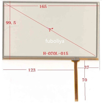 """7/"""" inch 165X100mm Resistive Touch Screen Glass Panel Digitizer for AT070TN92 F8"""
