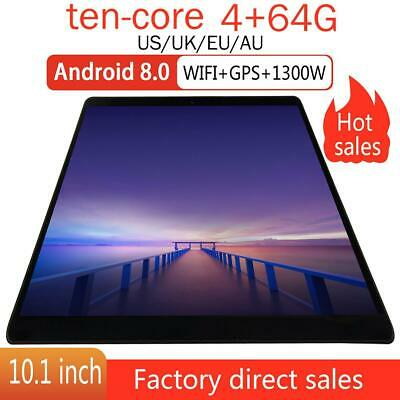 10-inch Bluetooth Tablet PC 4G+64G Deca Core Android 8.0 HD Screen WiFi Tablet
