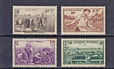 1940 France , National Relief Fund , Set of 4 ,  SG668-671 , MNH
