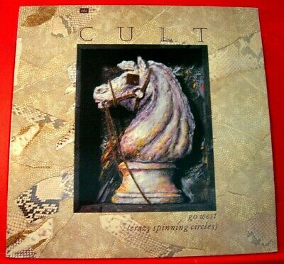 """The Cult Go West 12"""" PC UK ORIG 1984 Beggars Banquet b/w Sea And Sky+1 VINYL"""