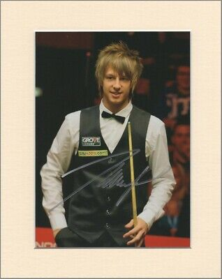 "Judd Trump Snooker Player Original Signed Mounted 10x8"" Autograph Photo COA"