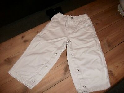Baby Gap Boys Stone  Cotton Chino Style Trousers Age 2 Years