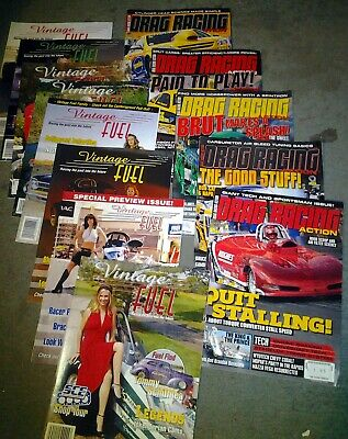 Drag Racing dragster magazines - Collection of THIRTEEN American magazines (new)