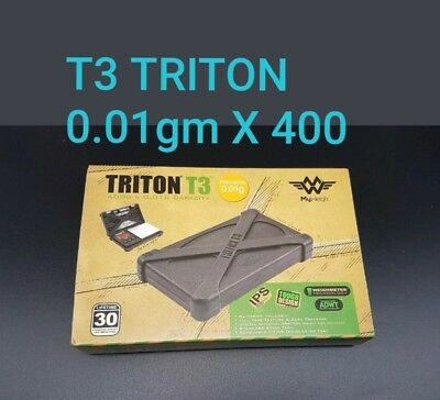TRITON T3  My weigh 400g X 0.01g Accuracy Digital Scale Durable Rubber Case