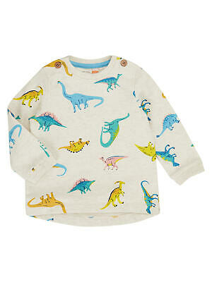 John Lewis Baby Artroom All-Over Dino Print Jumper / Multi 0-3 Months Brand New