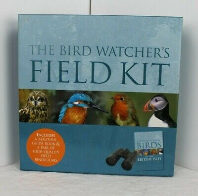 A Field Guide to Birds of the British Isles by Parragon gift box with binocular