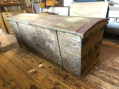 Large Antique Chest, Bowed Top ,magnifficent Proportions