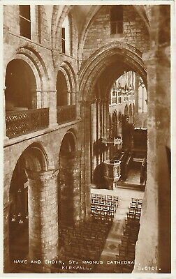 RP Postcard of The Nave and Choir, St. Magnus Cathedral, Kirkwall