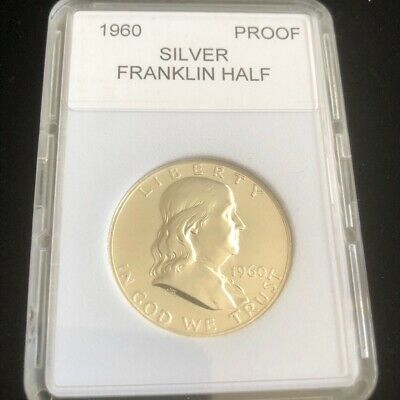 "1960- Proof Franklin Half Dollar With ""Mint Luster"" New Holder"