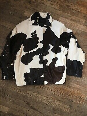 Vtg 80s 90s Womens Pony Calf Cow Hide Ladies L-XL Western Leather Jacket Coat