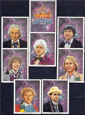 Doctor Who 30th Anniversary Collectors Artwork Cards - Set of 20 - Pristine !!