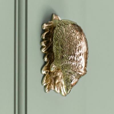 Polished Brass Hedgehog Door Knocker - Supplied With Fixings