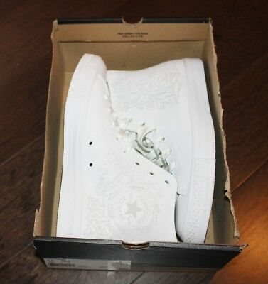 NEW Converse CTAS Limited Edition White Out LOS ANGELES Men 9.5 Hi Top Sneakers