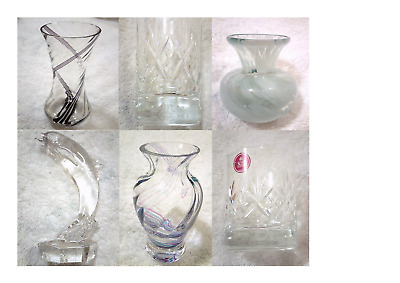 Beautiful assorted Glass. Vases, Figures, Tumblers, Crystal, Cut Glass