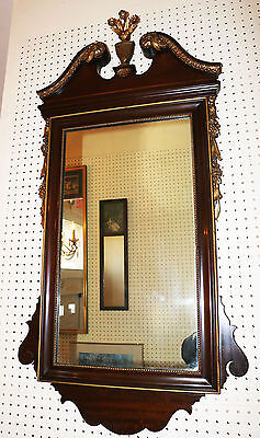 Incredible Floral Carved Gilded Mahogany Federal Style 19th Century Mirror