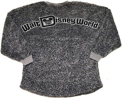 New Walt Disney World Grey Fuzzy Sherpa Long Sleeve Women's Spirit Jersey S-XL