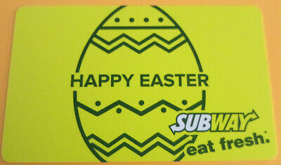 2015 Happy Easter Subway gift card