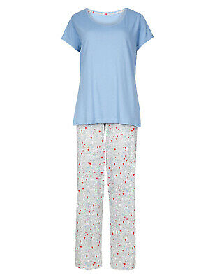 Ex Marks and Spencer Pure Cotton Hot Air Balloon Pyjama Set Size 8/10 (P164.20)
