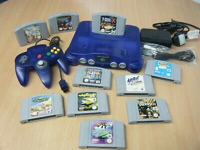 Rrare Limited Edition Grape Nintendo 64 Bundle Console Controller And 10 Games