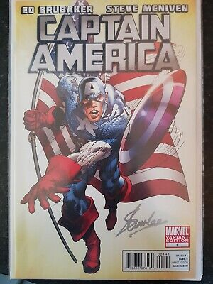 Captain America #1 comic signed by Stan Lee